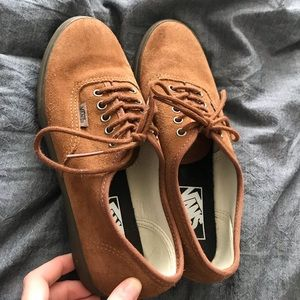 Limited edition brown suede Vans